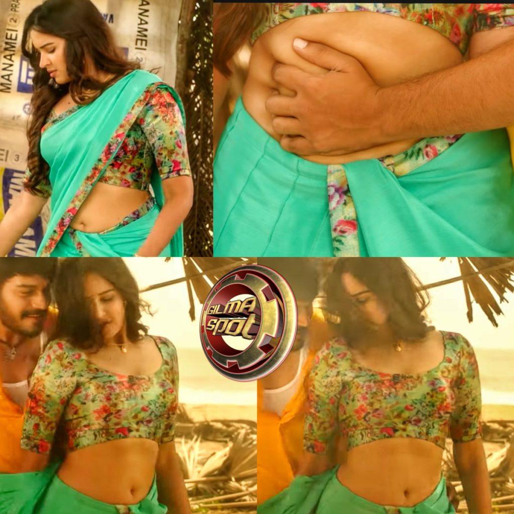 Poojitha Ponnada-Navel Orey video song la senjutu poita Telugu piece na summava.