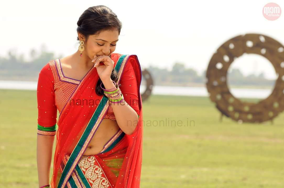 sexy plumpy-navel show-actress-Lakshmi-Menon-Latest-Photos-bust waist hip-sizes-34-26-35 Inches