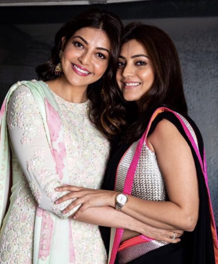 actress kajal aggarwal nisha aggarwal sweet sisters sismance photo gallery