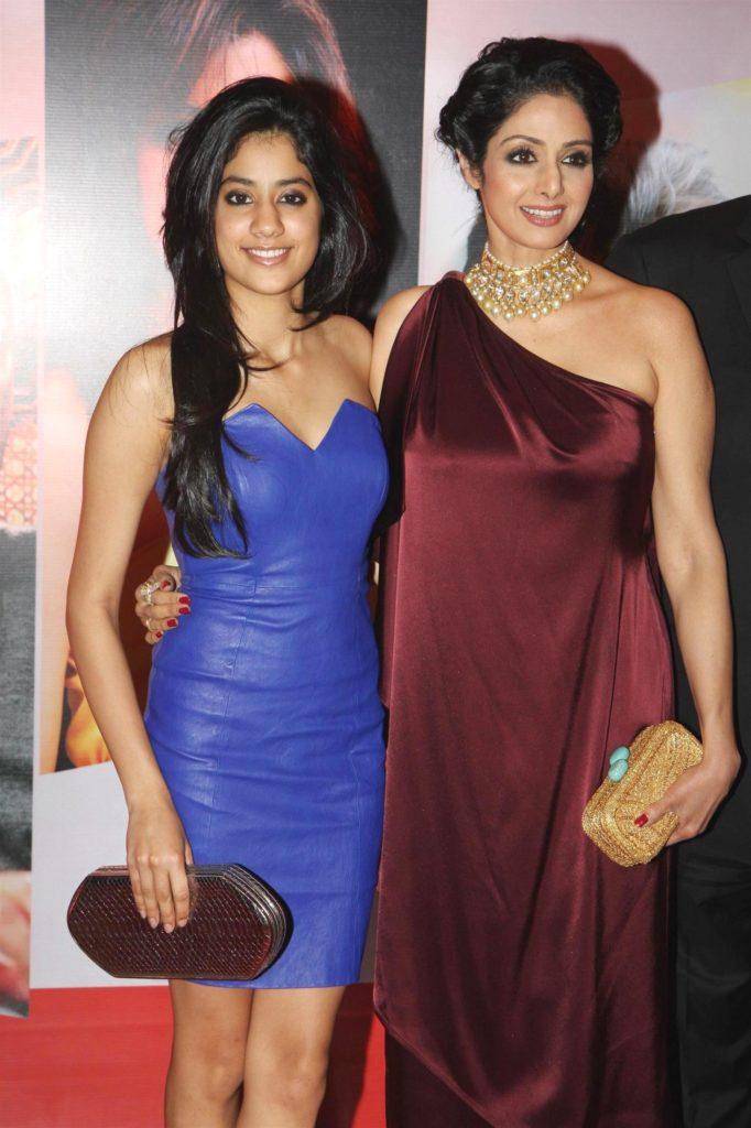 bollywood actress Sridevi and Jhanvi kapoor hot stills