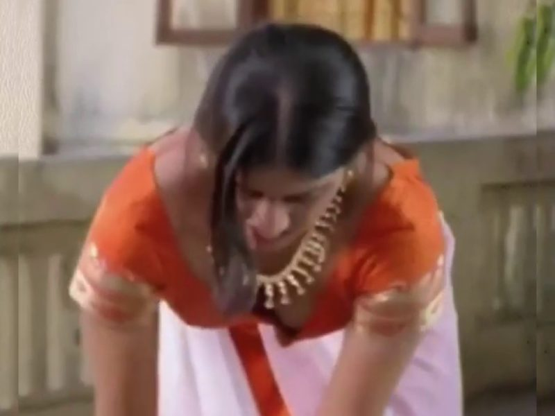 Actress Keerthi chawla sexy hot exposing boobs cleavage show from movie