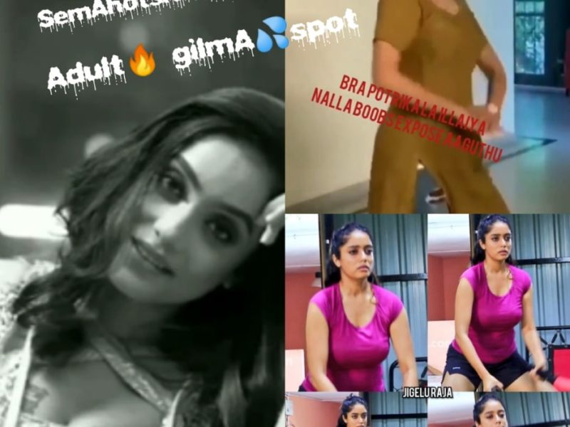 Actress Abhirami Venkatachalam sexy hot erotic busty boobs show videos