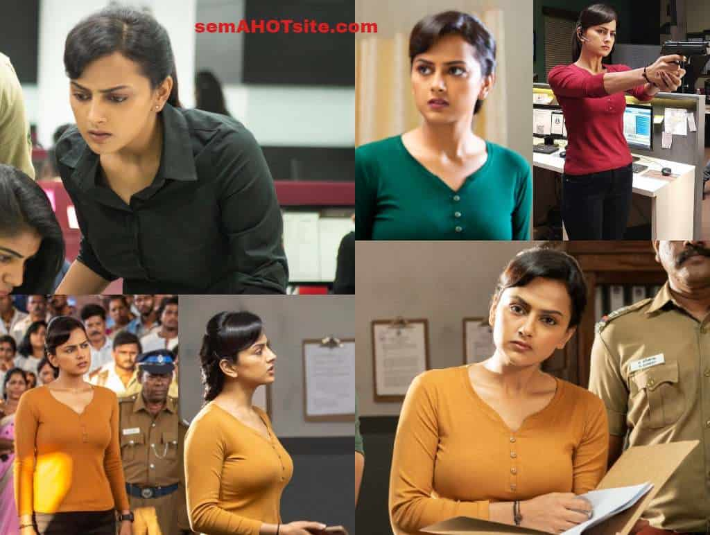 Shraddha srinath exposing boobs shape in Chakra movie hot HQ stills gallery