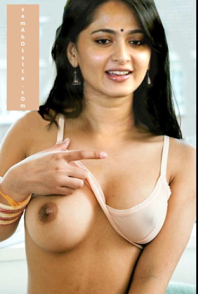 Actress Anushka shetty showing nipple nude topless photos
